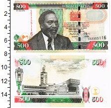 Изображение Банкноты Кения 500 шиллингов 2010  UNC