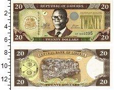 Изображение Банкноты Либерия 20 долларов 2011  UNC Портрет В.С.Табмэна.