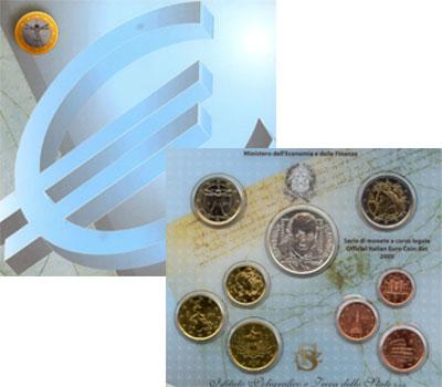 Изображение Подарочные монеты Италия Официальный евровыпуск 2005 года 2005  UNC