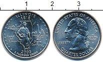 Изображение Мелочь Северная Америка США 1/4 доллара 2003 Медно-никель XF