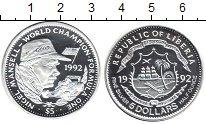 Изображение Монеты Либерия 5 долларов 1992 Серебро Proof-