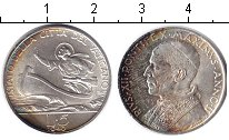 Изображение Монеты Европа Ватикан 5 лир 1940 Серебро XF