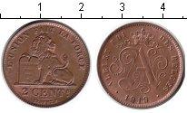Изображение Монеты Европа Бельгия 2 сантима 1919 Медь XF