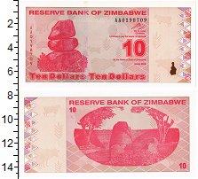 Изображение Банкноты Зимбабве 10 долларов 2009  UNC