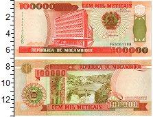 Изображение Банкноты Мозамбик 100000 метикаль 1993  UNC