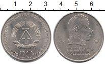 Изображение Мелочь ГДР 20 марок 1972 Медно-никель XF