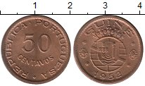 Изображение Мелочь Африка Гвинея-Бисау 50 сентаво 1952 Медь XF