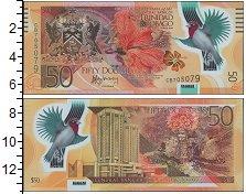 Изображение Банкноты Южная Америка Тринидад и Тобаго 50 долларов 2014 Пластик UNC