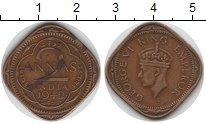 Изображение Монеты Индия 2 анны 1942 Медь XF Георг VI