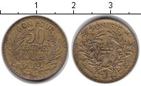 Изображение Монеты Тунис 50 сантим 1941  XF