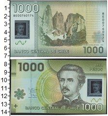 Изображение Банкноты Южная Америка Чили 1000 песо 2012  UNC