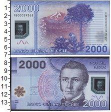 Изображение Банкноты Южная Америка Чили 2000 песо 2009 Пластик UNC