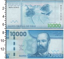 Изображение Банкноты Южная Америка Чили 10000 песо 2012  UNC