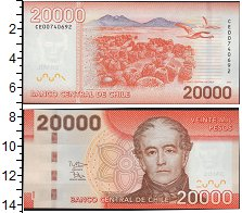 Изображение Банкноты Южная Америка Чили 20000 песо 2012  UNC