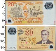 Изображение Банкноты Азия Сингапур 20 долларов 2007 Пластик UNC
