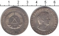 Изображение Монеты ГДР 10 марок 1966 Серебро XF Карл Фридрих Шинкель
