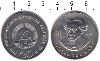 Изображение Монеты ГДР 20 марок 1974 Серебро XF Иммануил Кант