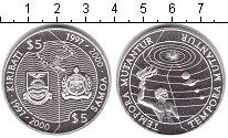 Изображение Монеты Кирибати 5 долларов 2000 Серебро Proof-