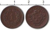 Изображение Монеты Швейцария 1 рапп 1900 Медь XF
