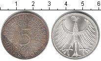 Изображение Монеты ФРГ 5 марок 1974 Серебро UNC-