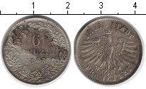 Изображение Монеты Франкфурт 6 крейцеров 1843 Серебро XF