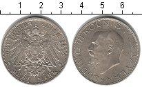 Изображение Монеты Бавария 3 марки 1914 Серебро UNC- Людвик III
