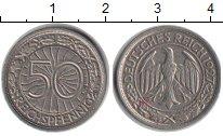Изображение Монеты Веймарская республика 50 пфеннигов 1927 Медно-никель XF