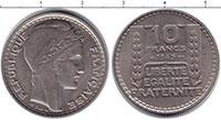 Изображение Мелочь Франция 10 франков 1949 Медно-никель XF