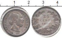 Изображение Монеты Нидерланды 25 центов 1890 Серебро VF Вильям III