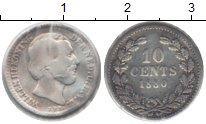 Изображение Монеты Нидерланды 10 центов 1880 Серебро VF Вильям III