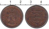 Изображение Монеты Остров Джерси 1/4 шиллинга 1957 Медь VF