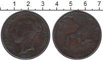 Изображение Монеты Великобритания Остров Мэн 1 пенни 1839 Медь XF