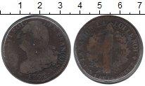 Изображение Монеты Франция 12 динерс 1792 Медь VF