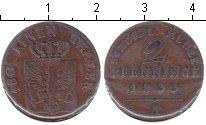 Изображение Монеты Пруссия 2 пфеннига 1833 Медь VF