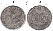 Изображение Монеты Стрейтс-Сеттльмент 10 центов 1912 Серебро VF