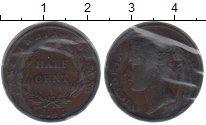 Изображение Монеты Индия 1/2 цента 1845 Медь VF Виктория