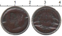 Изображение Монеты Азия Индия 1/4 цента 1845 Медь VF