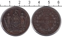 Изображение Монеты Борнео 1 цент 1886 Медь VF