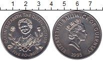 Изображение Мелочь Великобритания Гернси 5 фунтов 1995 Медно-никель UNC-