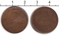 Изображение Монеты Латвия 5 сантим 1922 Медь VF