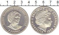 Изображение Монеты Гернси 5 фунтов 1999 Серебро Proof-