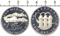 Изображение Монеты Сан-Марино 1000 лир 1989