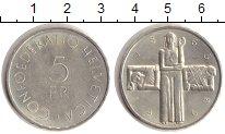 Изображение Монеты Швейцария 5 франков 1963 Серебро XF