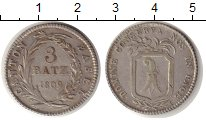 Изображение Монеты Швейцария Базель 3 батзена 1809 Серебро VF