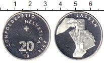Изображение Монеты Швейцария 20 франков 2014 Серебро XF