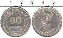 Изображение Мелочь Великобритания Стрейтс-Сеттльмент 50 центов 1920 Серебро XF