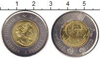 Изображение Мелочь Канада 2 доллара 2015 Биметалл UNC- Елизавета II. Сэр Дж