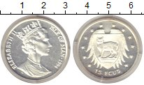 Изображение Монеты Великобритания Остров Мэн 15 экю 1994 Серебро Proof-