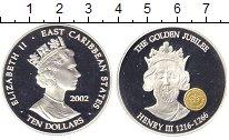 Изображение Монеты Карибы 10 долларов 2002 Серебро Proof
