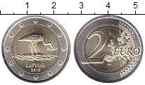 Изображение Мелочь Латвия 2 евро 2015 Биметалл UNC-